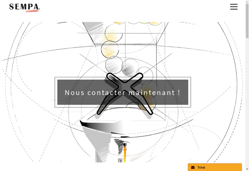 Capture d'écran du site de SA Sempa