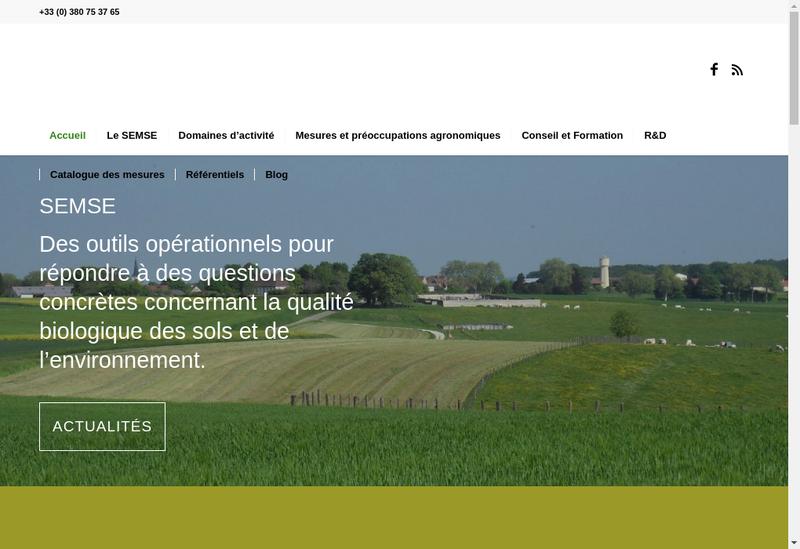 Capture d'écran du site de Semse