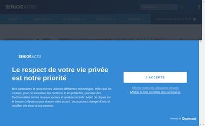 Site internet de Senioractu
