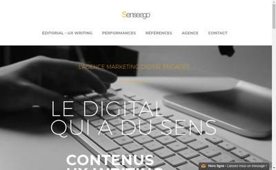 Site internet de Senseego