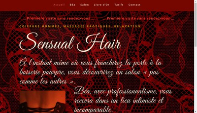 Site internet de Sensual Hair