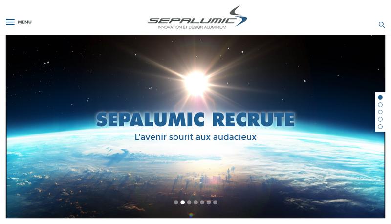 Capture d'écran du site de Sepa Alumic Systemes