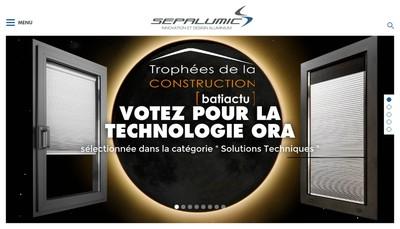 Site internet de Sepa Alumic Systemes