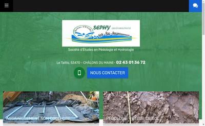 Site internet de Sephy Environnement