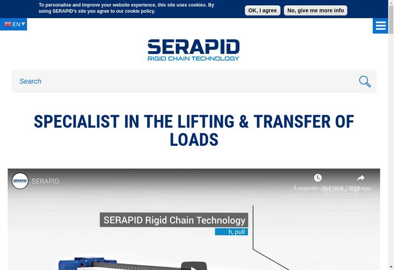 Capture d'écran du site de Serapid France