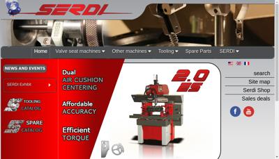 Capture d'écran du site de Machines Serdi