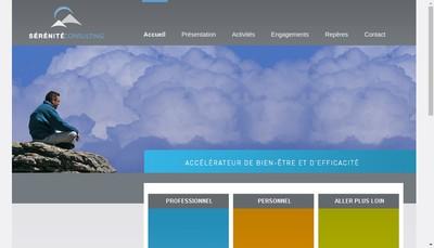 Site internet de Serenite Consulting