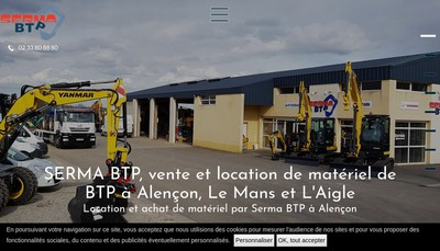 Site internet de Serma Btp