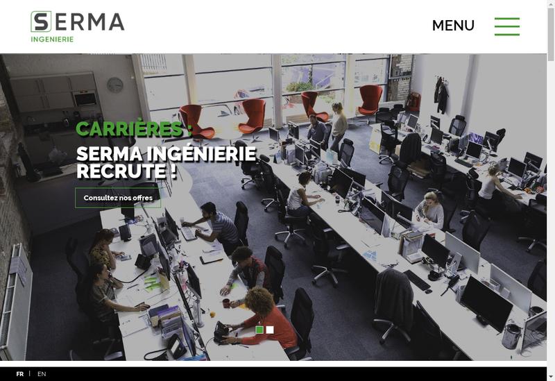 Capture d'écran du site de Seal Industrie - Sereso - Surlog