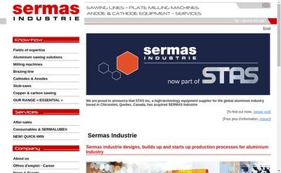 Site internet de Sermas Industrie