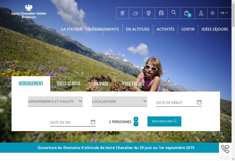 Capture d'écran du site de Scv Domaine Skiable