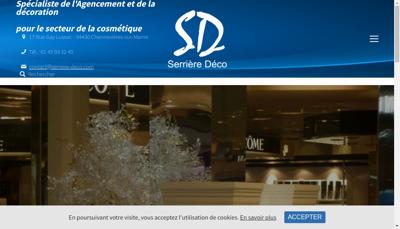 Capture d'écran du site de Serriere Deco