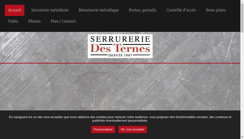 Capture d'écran du site de Serrurerie Saint Pierre