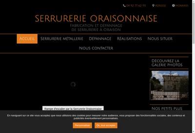 Site internet de Serrurerie Oraisonnaise