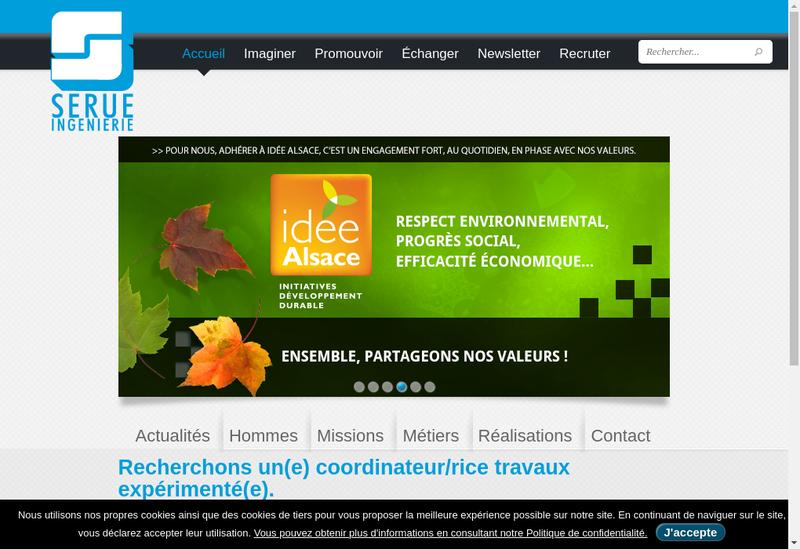 Capture d'écran du site de Serue Ingenierie