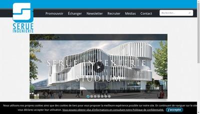 Site internet de Serue Ingenierie