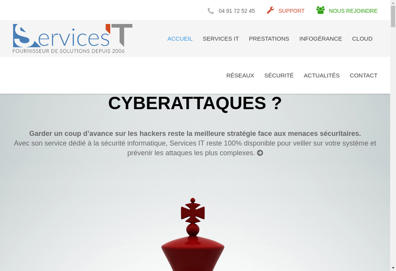 Capture d'écran du site de Services It