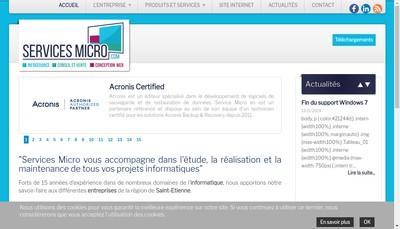 Site internet de Services Micro