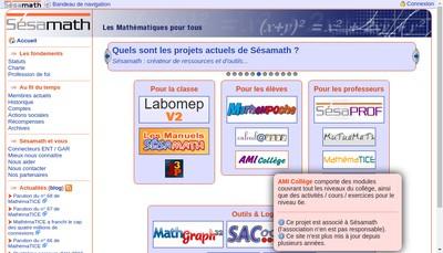 Site internet de Sesamath