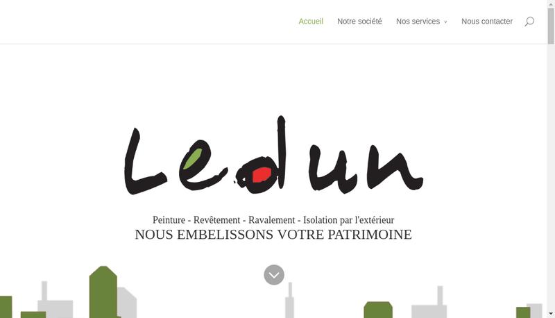 Capture d'écran du site de SFP Ledun