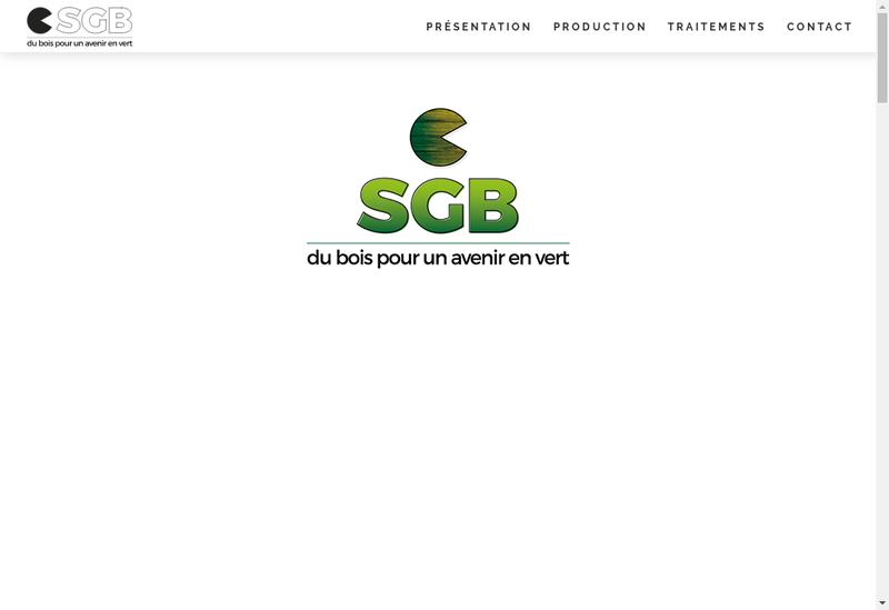 Capture d'écran du site de Sgb Moulures