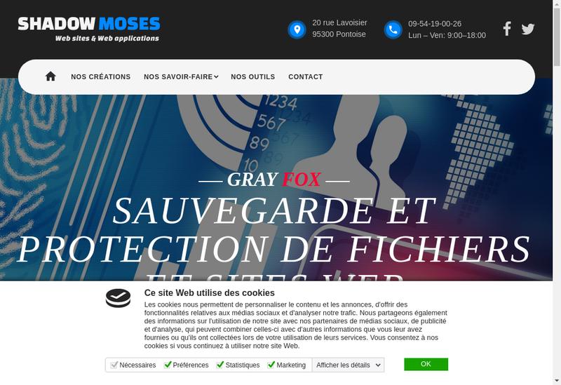 Capture d'écran du site de Shadow Moses