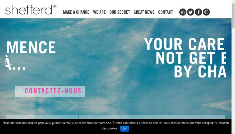 Capture d'écran du site de Shefferd