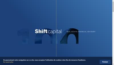 Site internet de Shift Capital