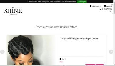 Site internet de Shine Hair And Beauty