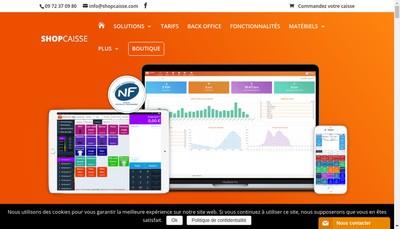 Site internet de Shopcaisse