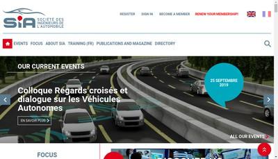 Site internet de Societe des Ingenieurs de l'Automobile