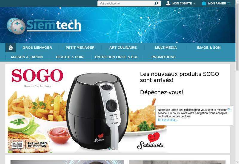Capture d'écran du site de Siemtech