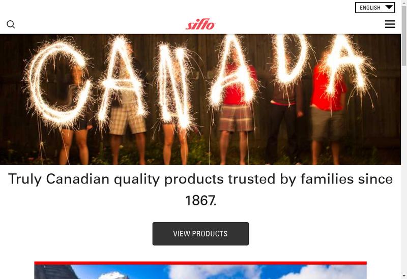 Capture d'écran du site de Sifto