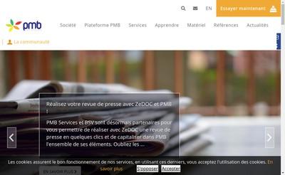 Site internet de Pmb Services