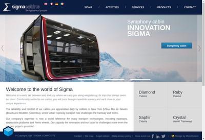 Site internet de Sigma Cabins