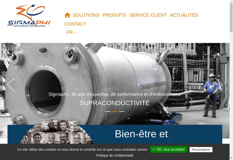 Capture d'écran du site de Sigmaphi