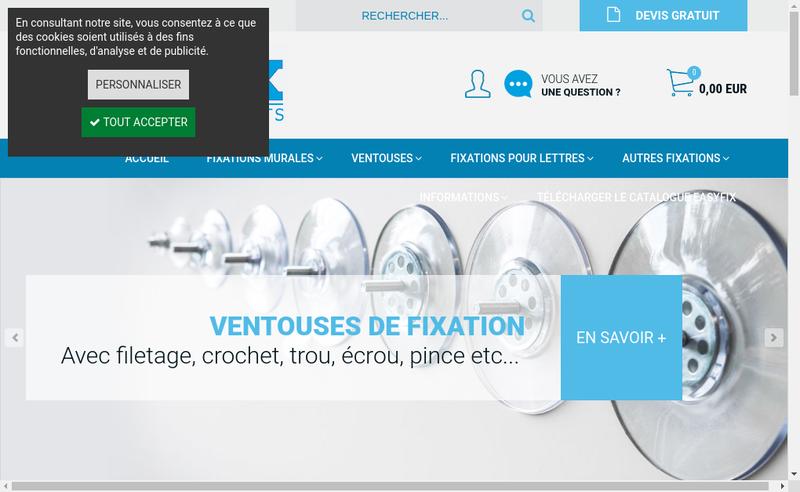 Capture d'écran du site de Sign-Fix