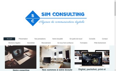 Site internet de Sim Consulting