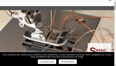 Site internet de Simac Services