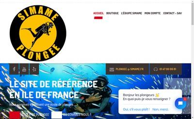 Site internet de Simame Plongee