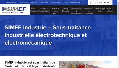 Site internet de Simef Industrie