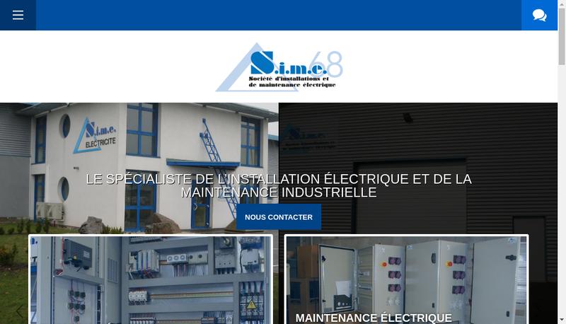 Capture d'écran du site de Societe d'Installation Maintenance Elec 68