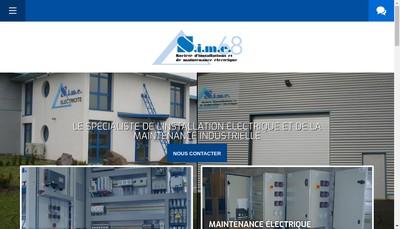 Site internet de Societe d'Installation et de Maintenance Electrique 68