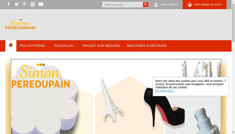 Capture d'écran du site de Simon Peredupain