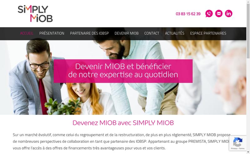 Capture d'écran du site de Cap 100 Finance