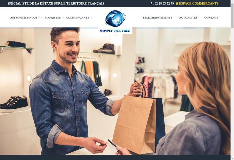 Capture d'écran du site de Simply Tax Free