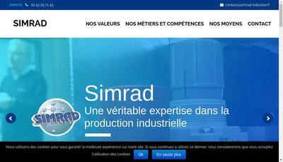 Site internet de Simrad