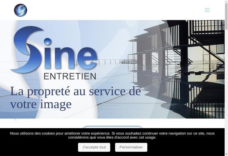 Capture d'écran du site de Sine Entretien