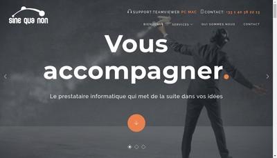 Site internet de Sine Qua Non