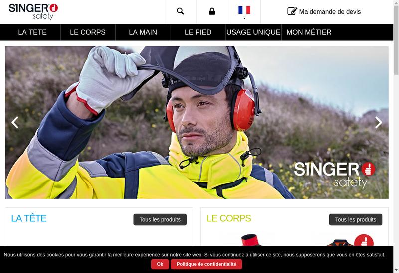 Capture d'écran du site de Singer Freres